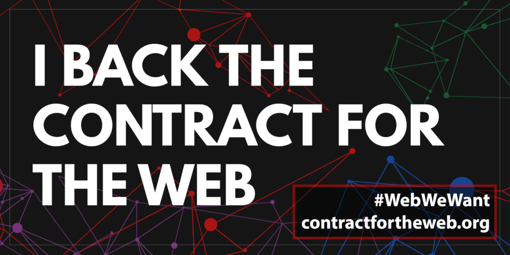 Endorsement for Contract for the Web